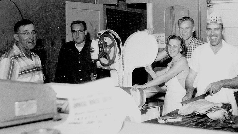 Jennings family black and white photo