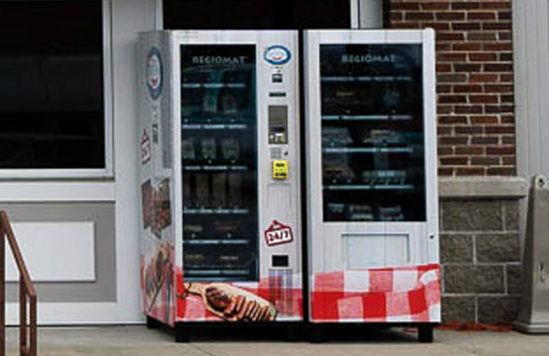vending machines outside of Jennings